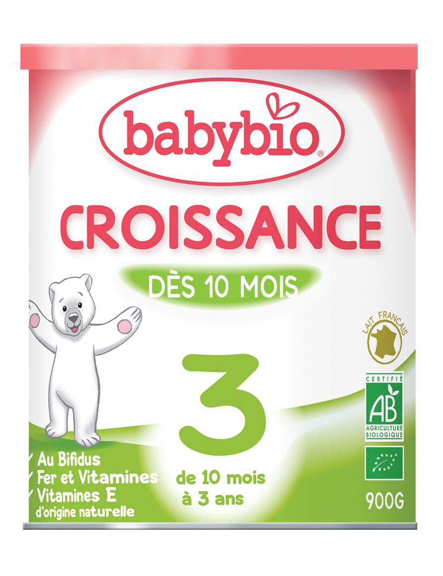 Image BABYBIO CROISSANCE lait pdre