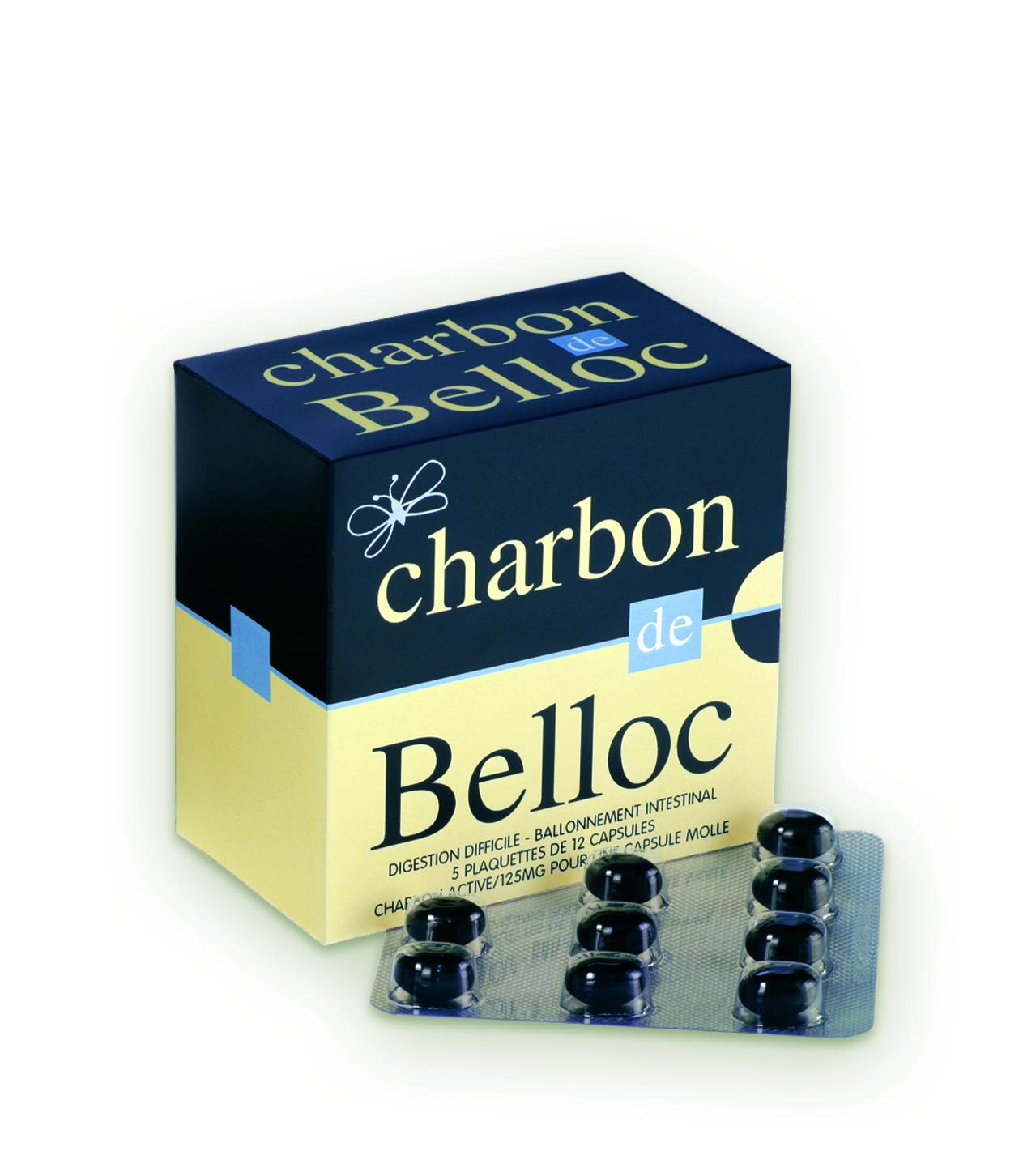 Image CHARBON DE BELLOC 125 mg Caps molle B/60