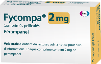 Image FYCOMPA 2 mg Cpr pell Plq/7
