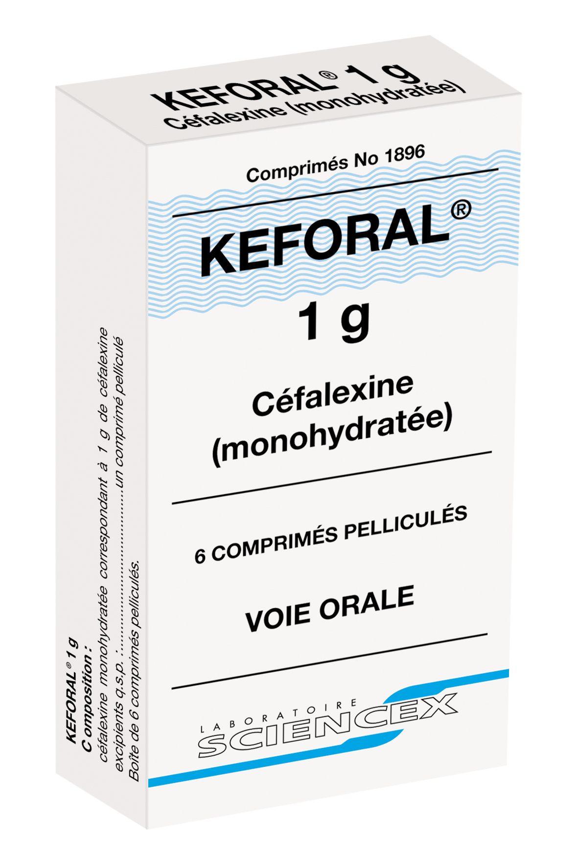 Image KEFORAL 1 g Cpr pell B/6