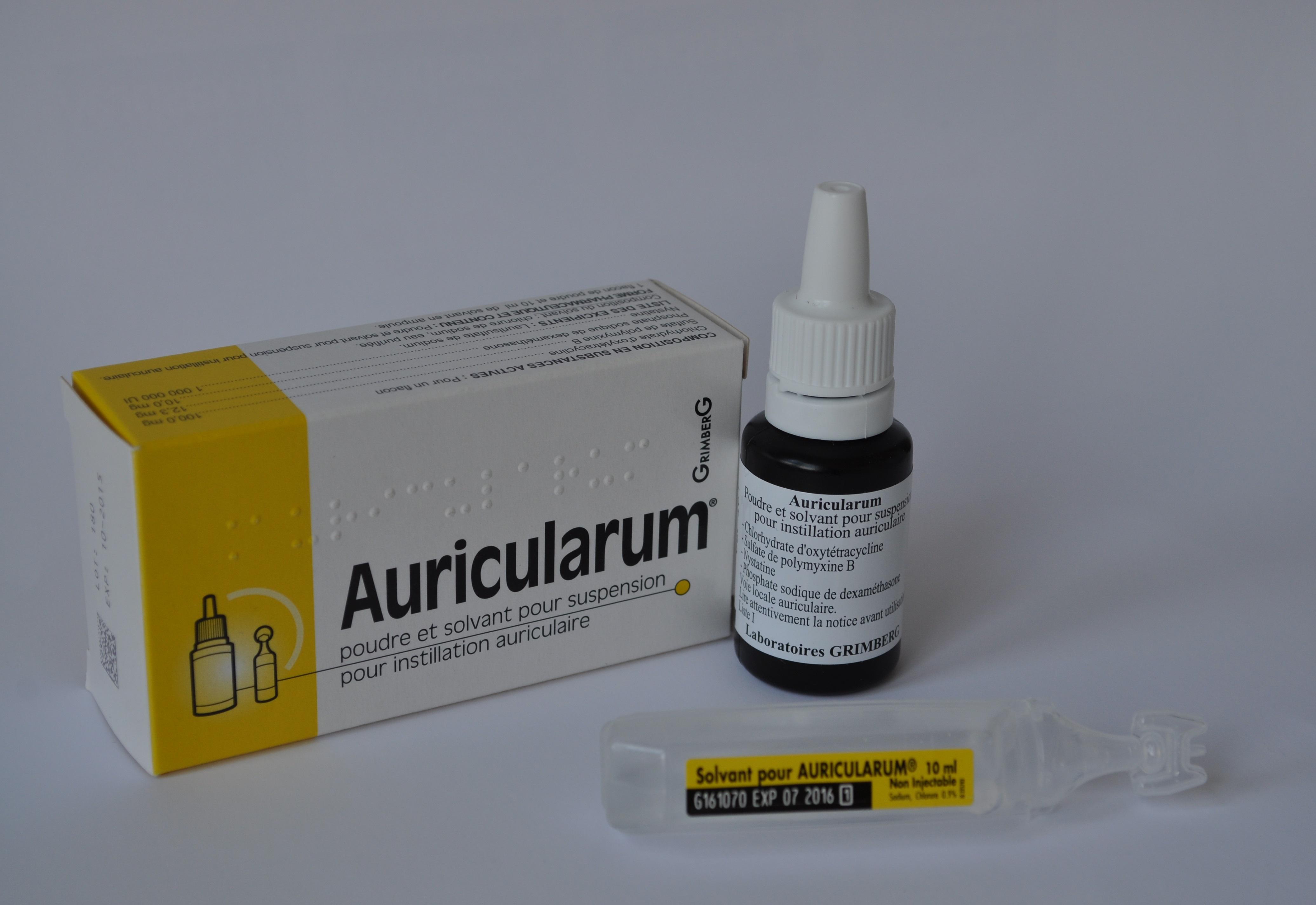 Image AURICULARUM Pdr & sol aur Fl+Amp/10ml