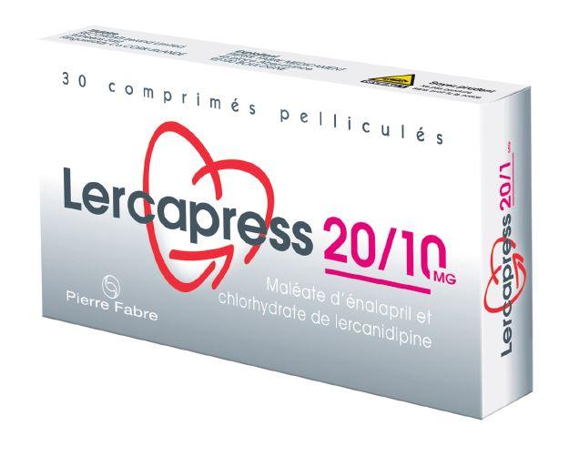 Image LERCAPRESS 20 mg/10 mg Cpr pell Plq/30