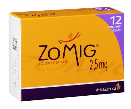 Image ZOMIG 2,5 mg Cpr pell 1Plq/12