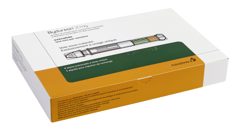 Image BYDUREON 2 mg Pdr & solv susp inj LP en stylo prérempli 4Stylos