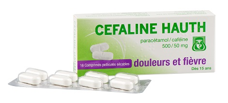 Image CEFALINE HAUTH 500 mg/50 mg Cpr pell séc Plq/16