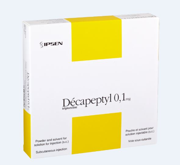 Image DECAPEPTYL 0,1 mg Pdre/solv p sol inj SC Fl+Amp/7