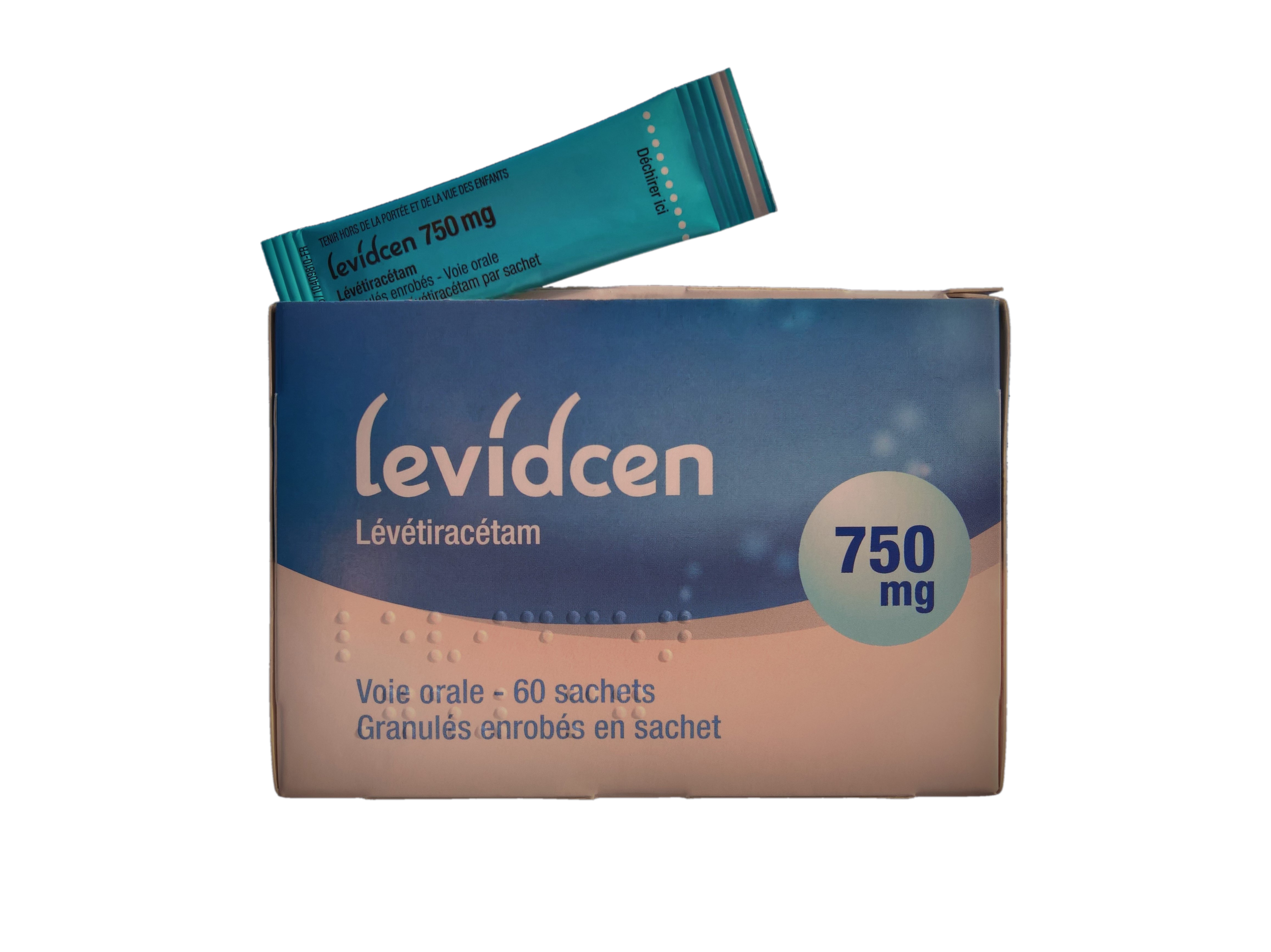 Image LEVIDCEN 750 mg Glé enr en sachet B/60