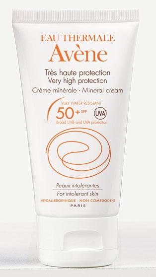 Image AVENE SOLAIRE SPF 50+ crème minérale haute protection