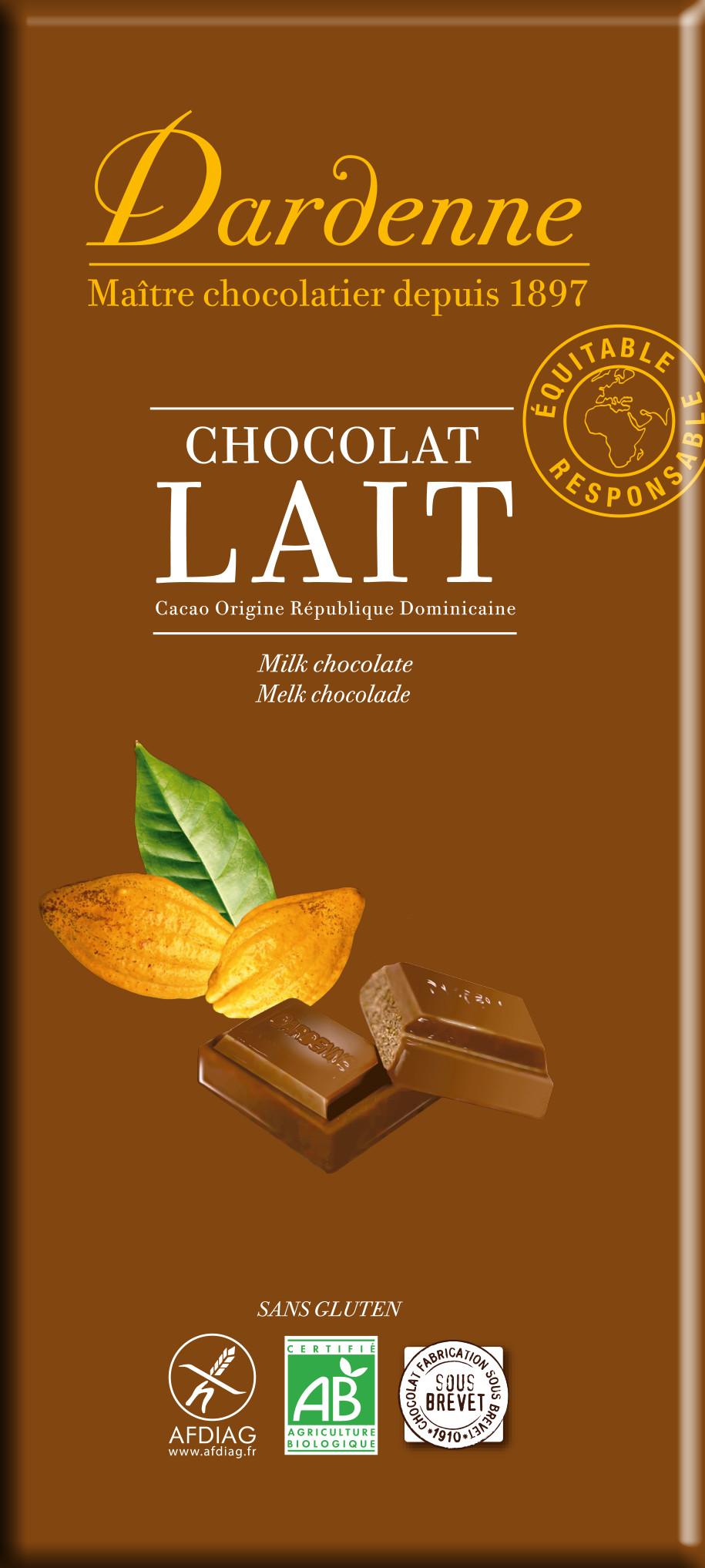 Image DARDENNE chocolat au lait écrémé