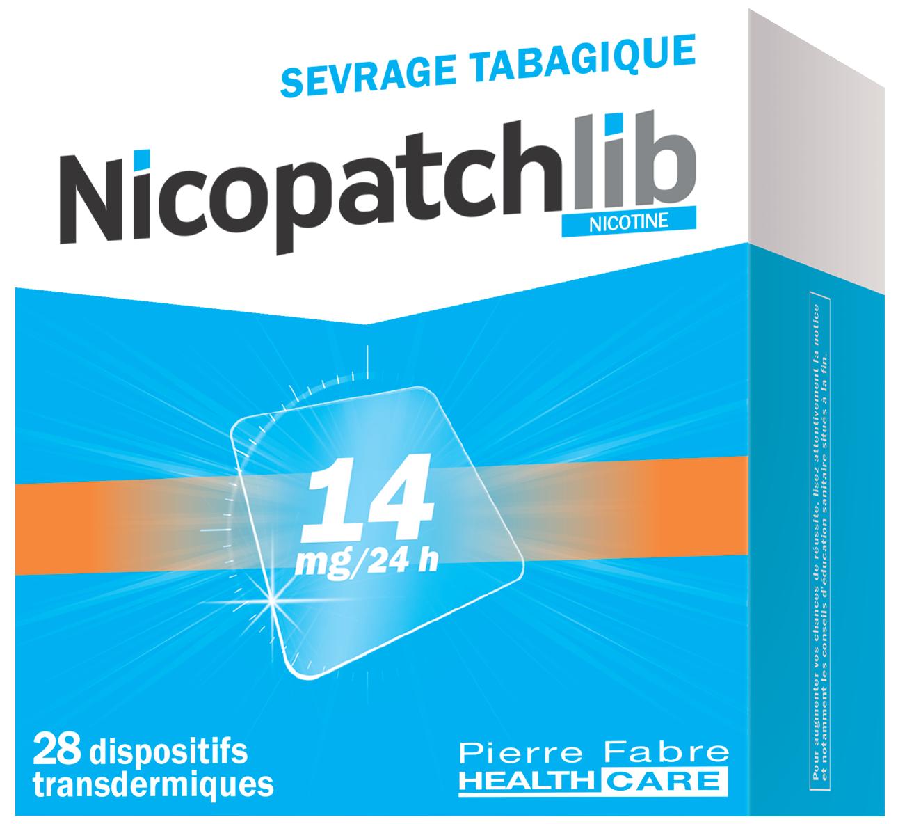 Image NICOPATCHLIB 14 mg/24 h Disp transderm 28Sach