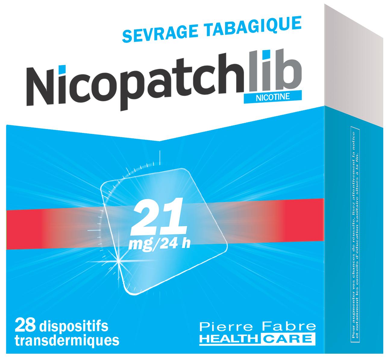 Image NICOPATCHLIB 21 mg/24 h Disp transderm 28Sach