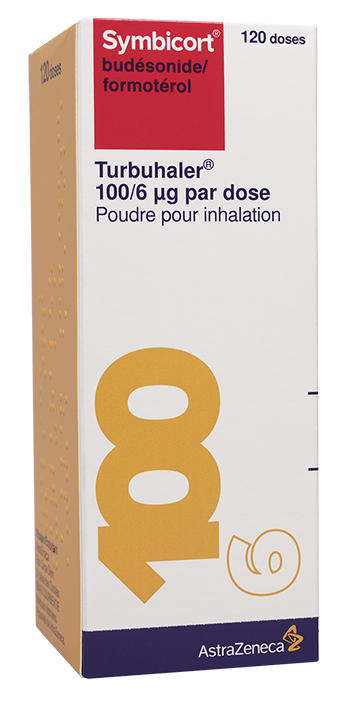 Image SYMBICORT TURBUHALER 100/6 µg/dose Pdr inh Fl/120doses