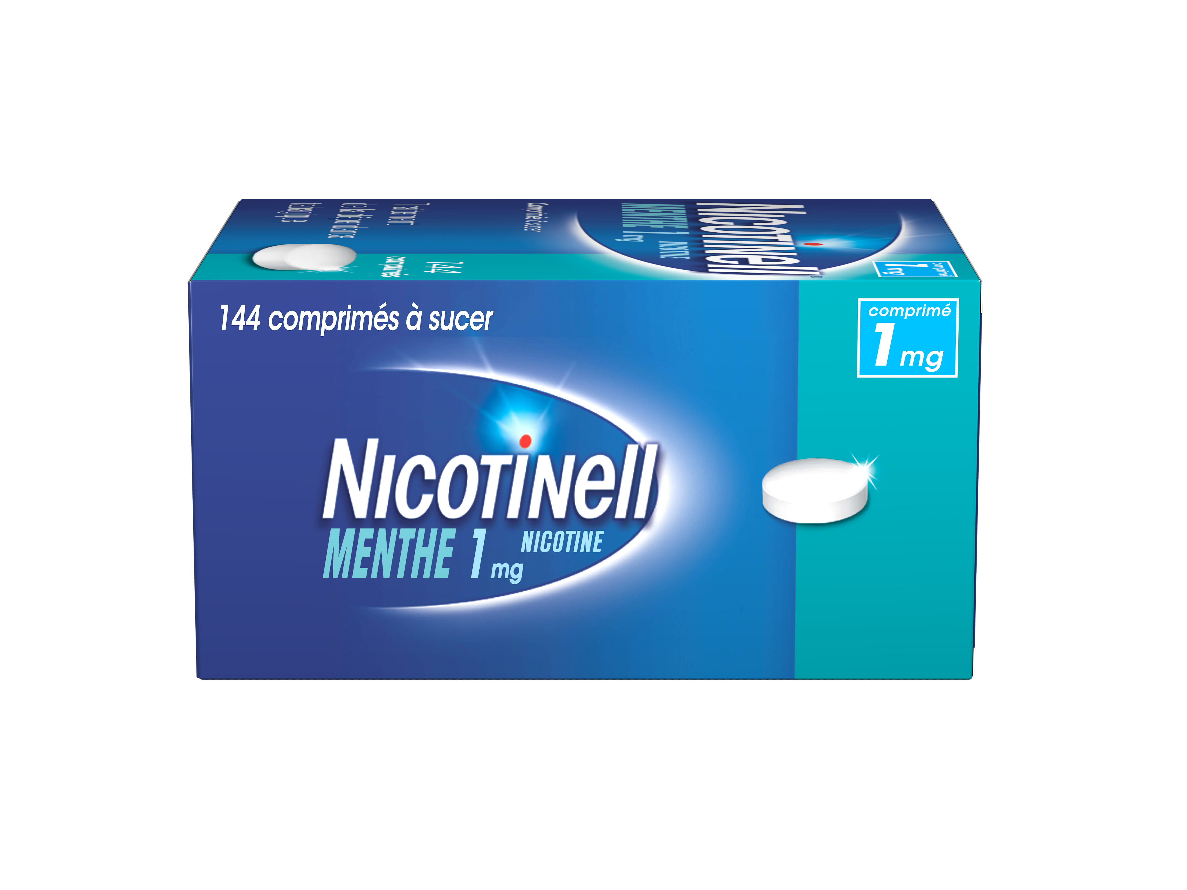 Image NICOTINELL 1 mg Cpr à sucer menthe Plq/144