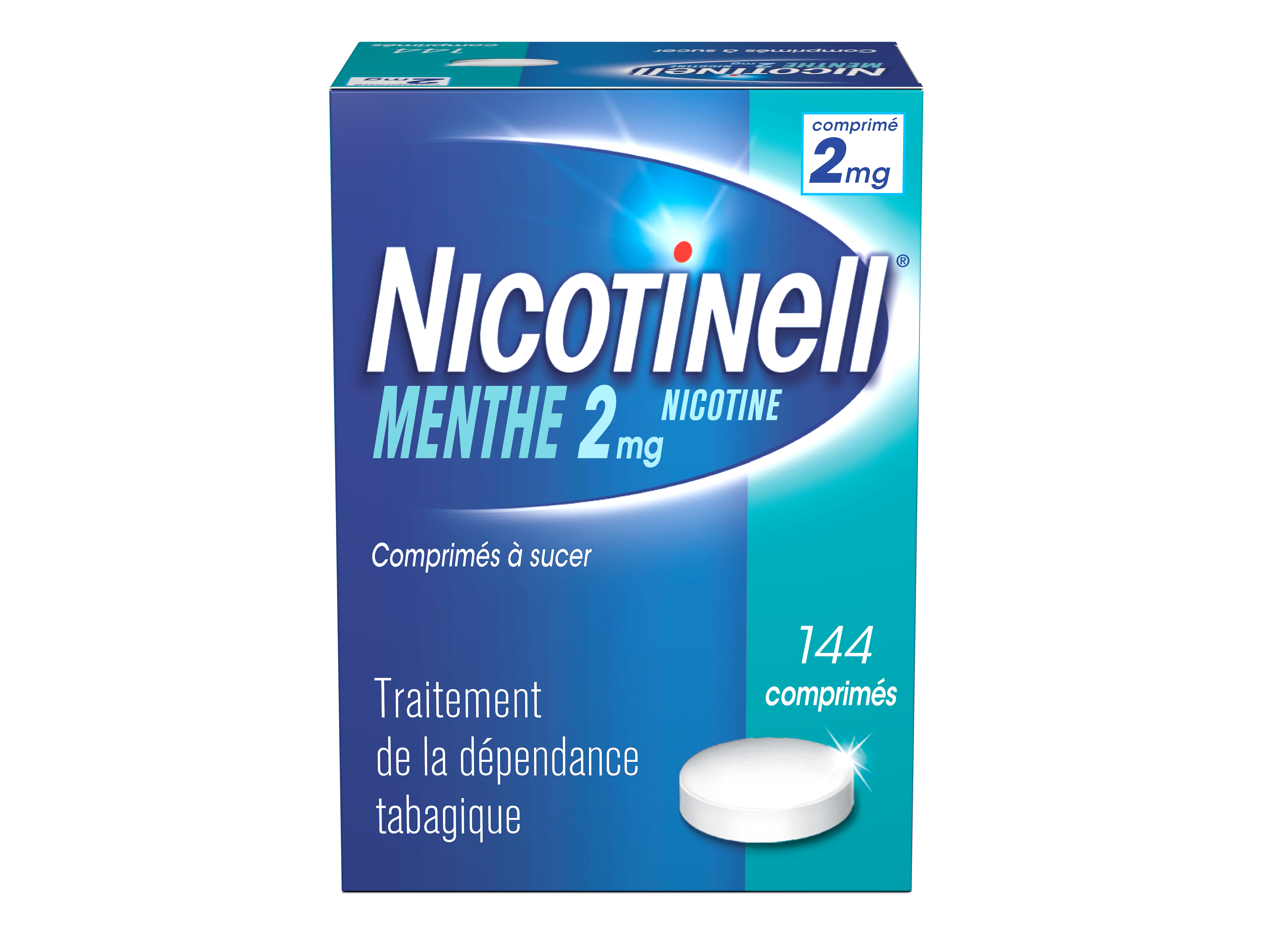 Image NICOTINELL 2 mg Cpr à sucer menthe Plaq/144