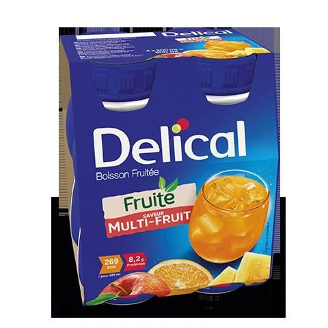 Image DELICAL BOISSON FRUITEE Nutriment multi fruits 4Bouteilles/200ml