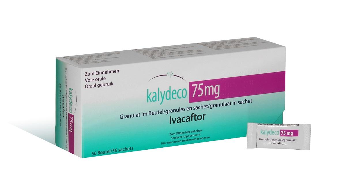 Image KALYDECO 75 mg Glé en sachet B/56 (4x14)
