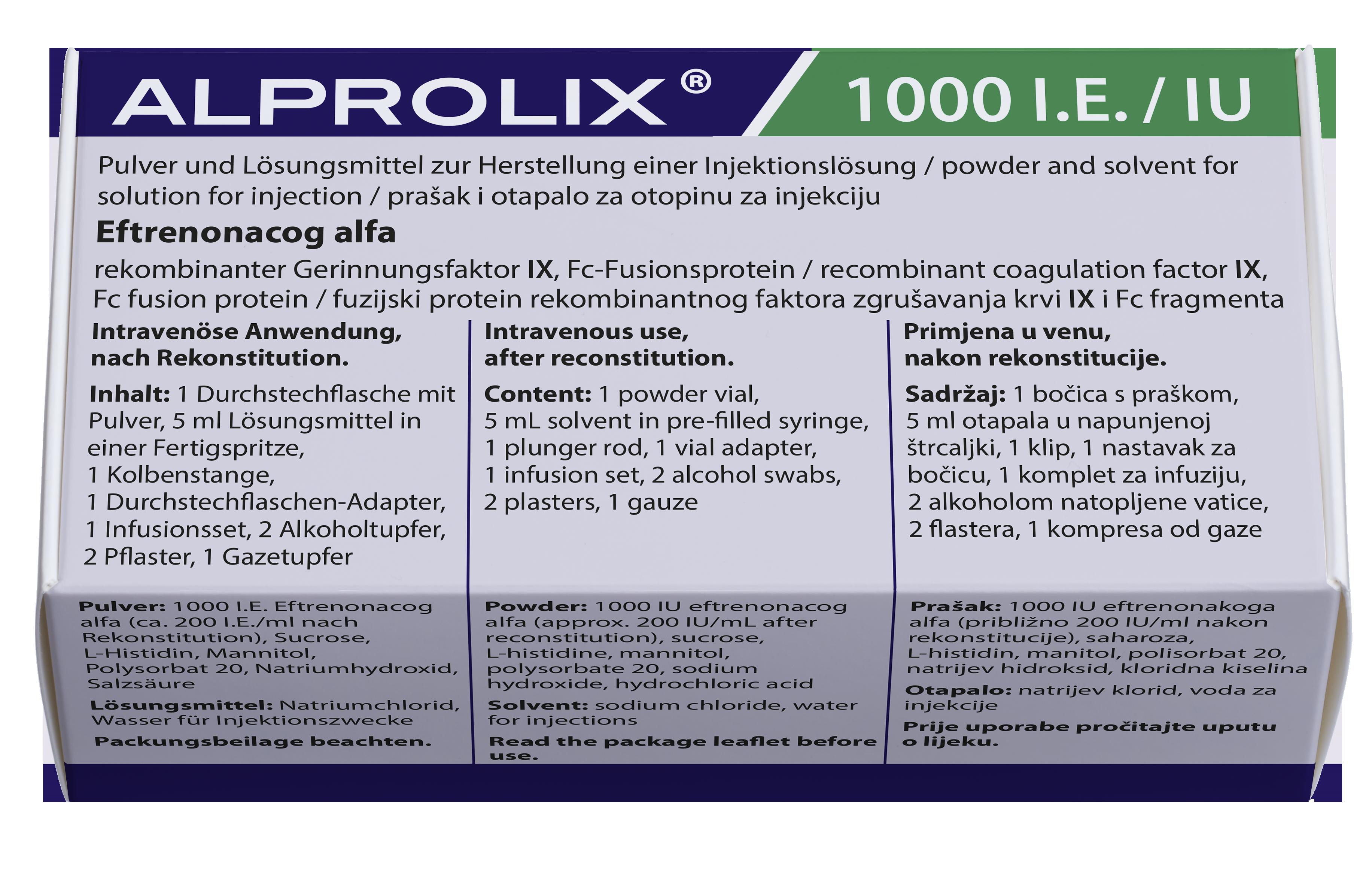 Image ALPROLIX 1000 UI Pdre/solv p sol inj Fl+Ser/5ml+néc