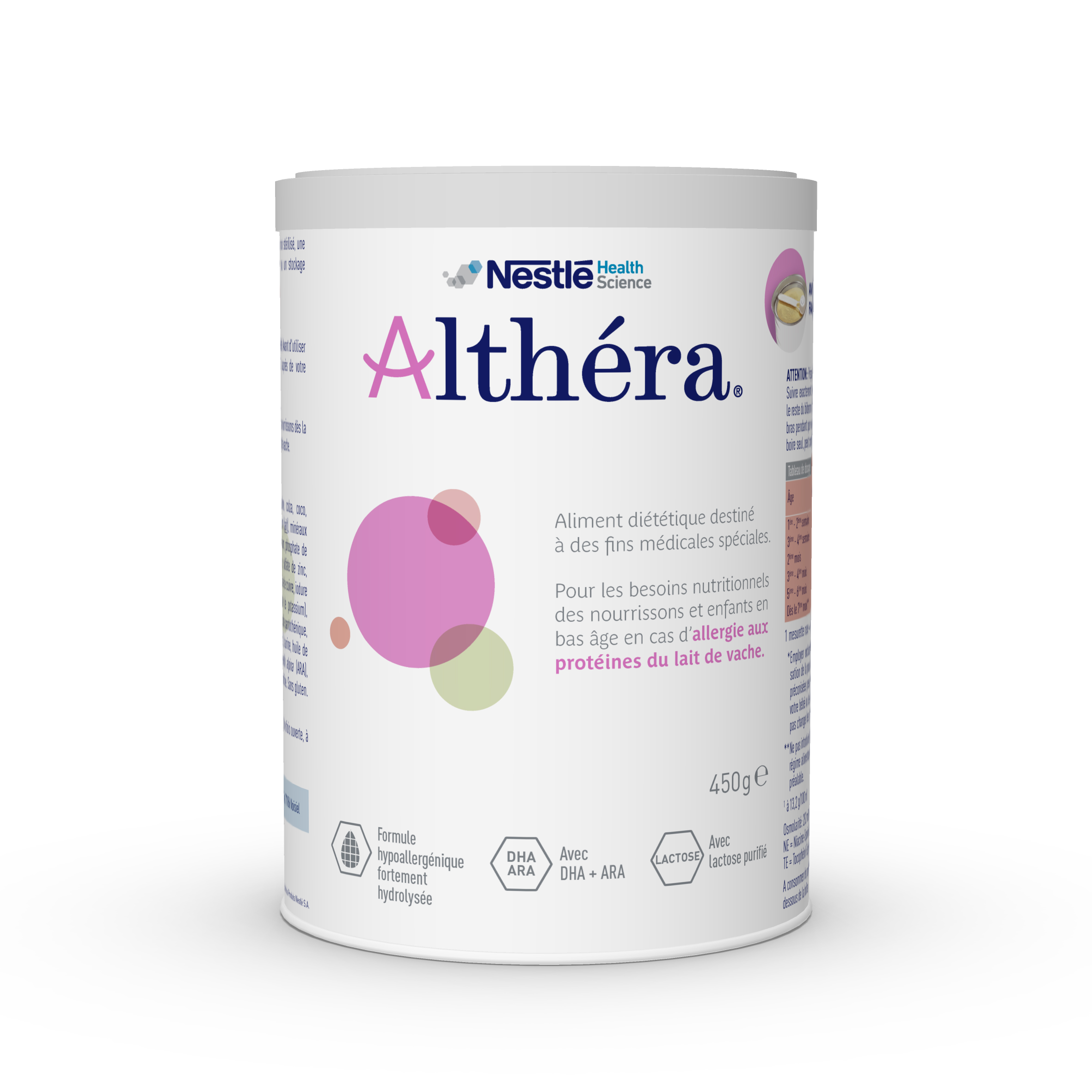 Image ALTHERA Pdr or substitution du lait B/450g
