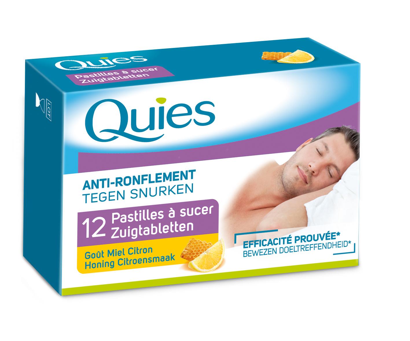 Image QUIES Past à sucer anti-ronflement miel citron B/12