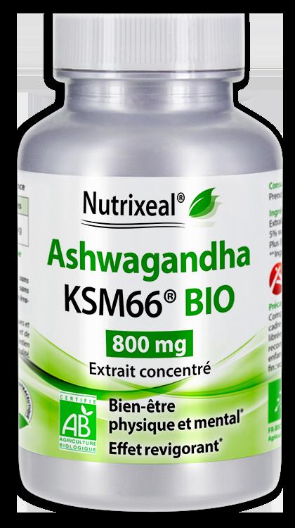 Image NUTRIXEAL Ashwagandha Bio KSM-66 800 mg Gél Fl/60