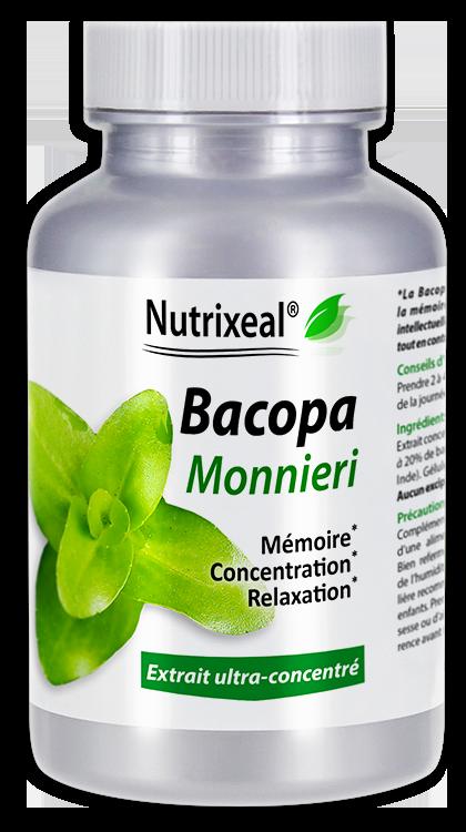 Image NUTRIXEAL Bacopa monnieri Bacosides Gél Fl/60