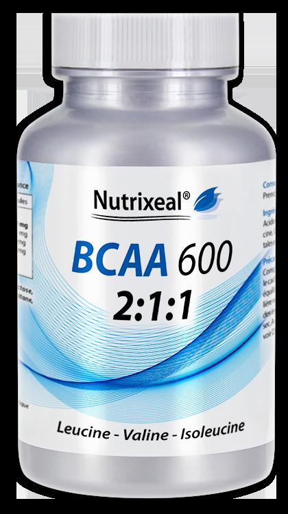 Image NUTRIXEAL BCAA 600 L-leucine L-valine L-isoleucine Gél Fl/100