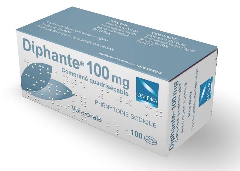Image DIPHANTE 100 mg Cpr quadriséc Plq/100