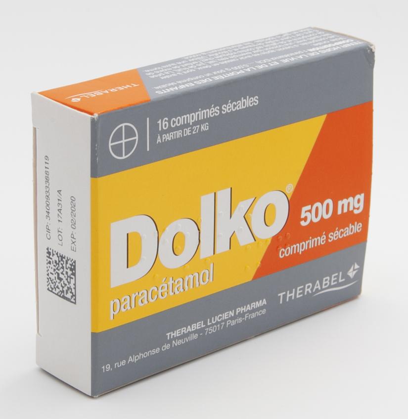 Image DOLKO 500 mg Cpr séc Plq/16