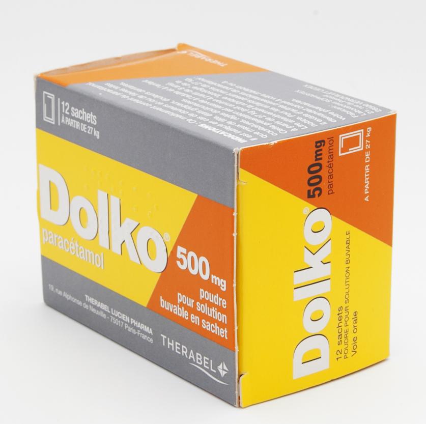 Image DOLKO 500 mg Pdr sol buv en sachet 12Sach/2,75g