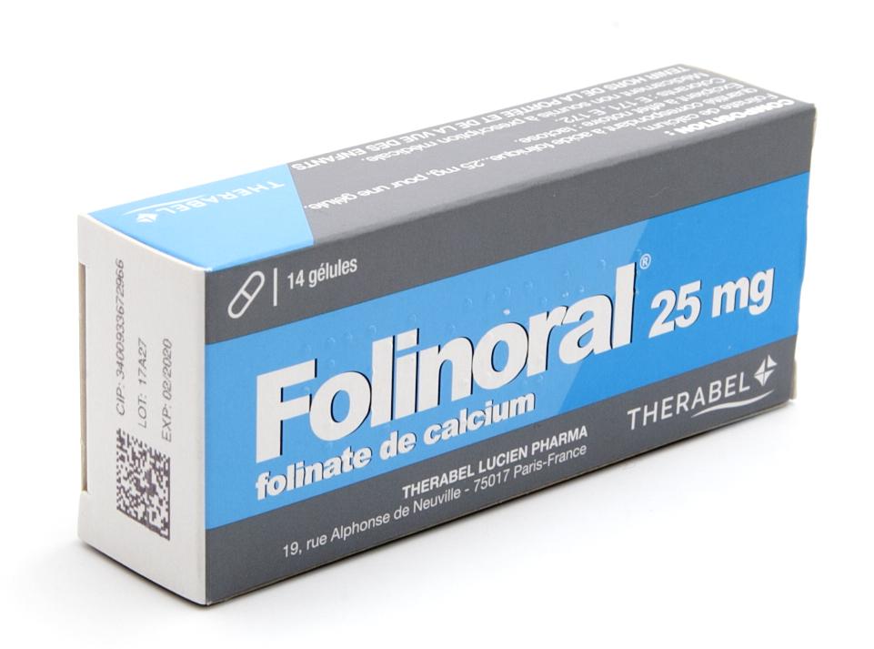 Image FOLINORAL 25 mg Gél B/14
