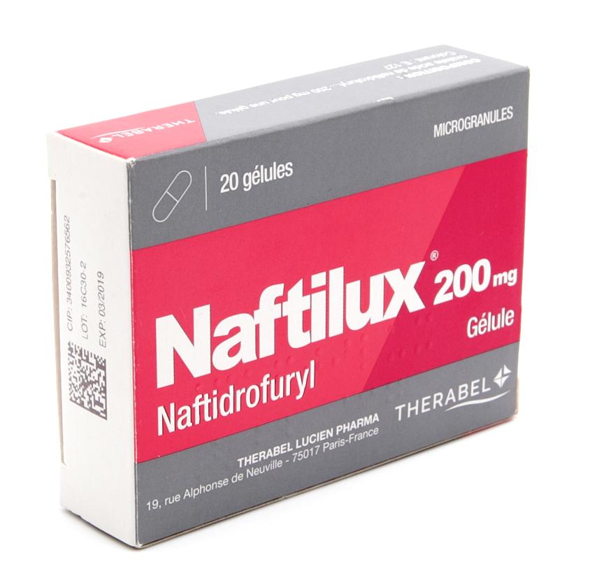 Image NAFTILUX 200 mg Gél Plq/20