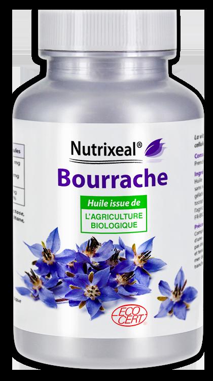 Image NUTRIXEAL Bourrache huile Bio Gél Fl/200