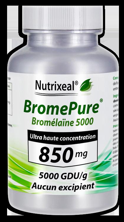 Image NUTRIXEAL BROMEPURE Bromélaïne 5000 GDU/g 850 mg Gél Fl/60