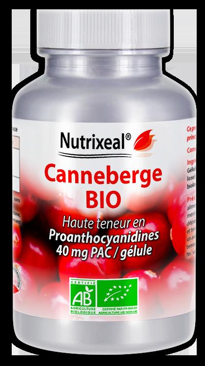 Image NUTRIXEAL Canneberge Bio Proanthocyanidines Gél Fl/60