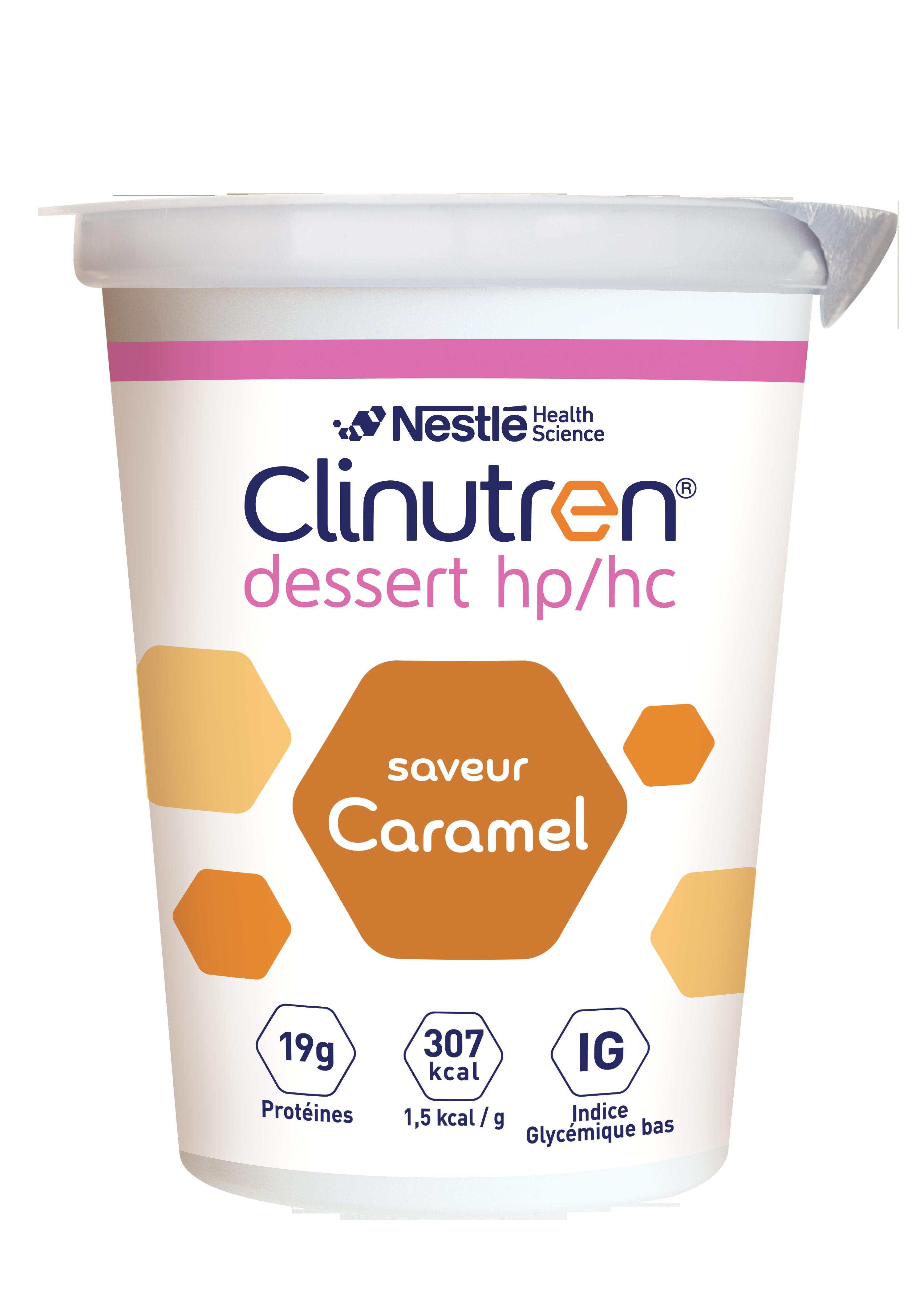 Image CLINUTREN DESSERT HP/HC Nutriment caramel 4Cups/205g