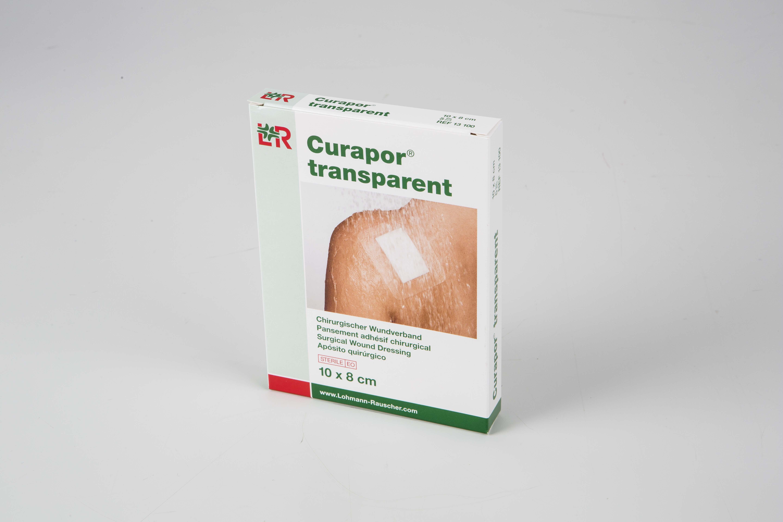 Image CURAPOR TRANSPARENT Pans adhésif stérile chirurgical 8x10cm B/5