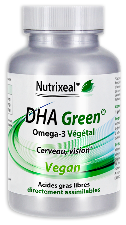 Image NUTRIXEAL DHA GREEN Omega 3 DHA Vegan Gél Fl/60