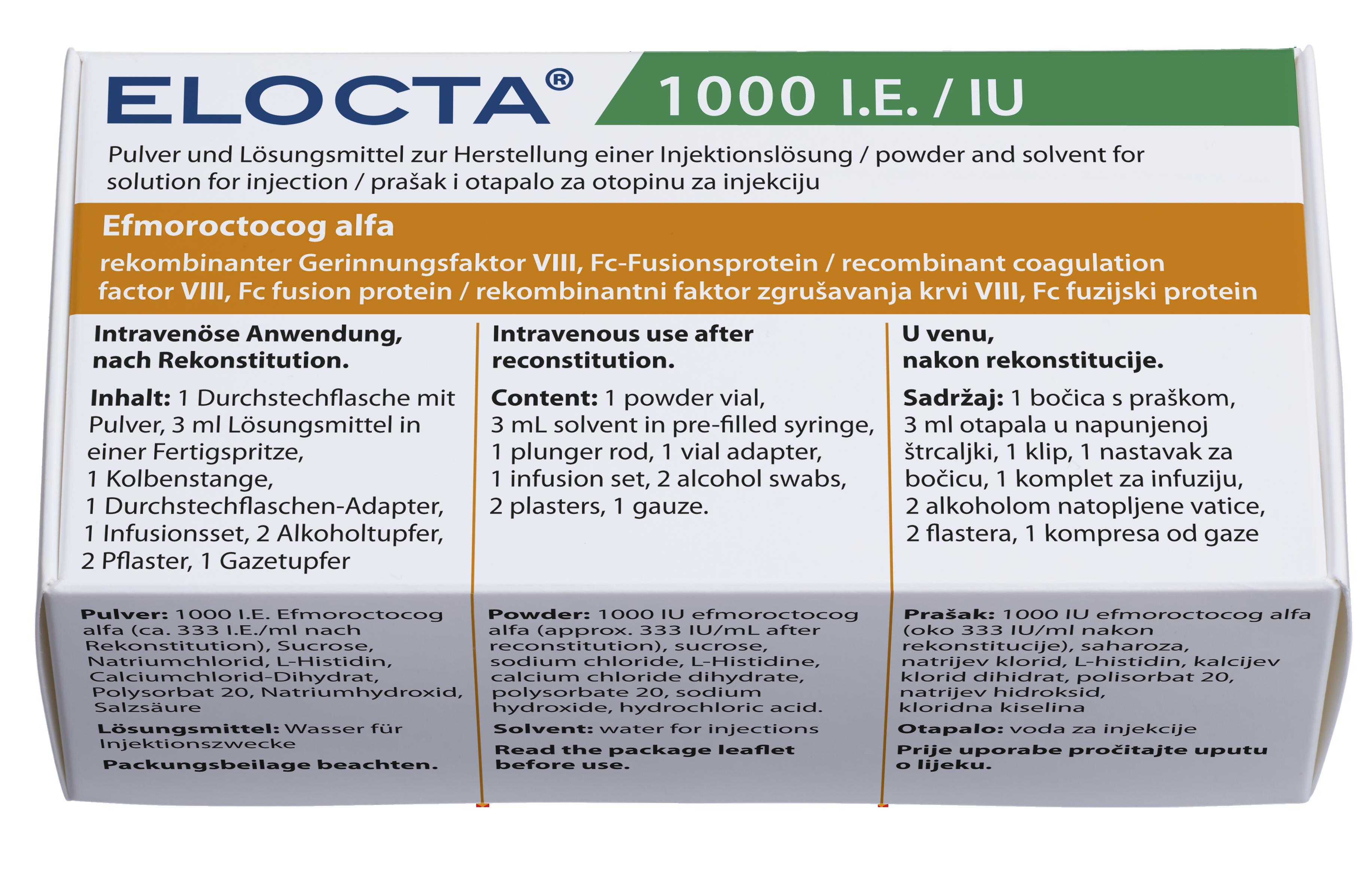 Image ELOCTA 1000 UI Pdre/solv p sol inj Fl+Ser/3ml