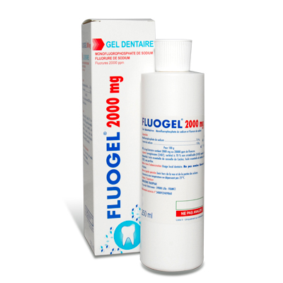 Image FLUOGEL 2000 mg Gel dent Fl/250ml