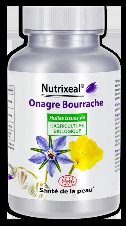 Image NUTRIXEAL Onagre Bourrache huiles Bio Gél Fl/200