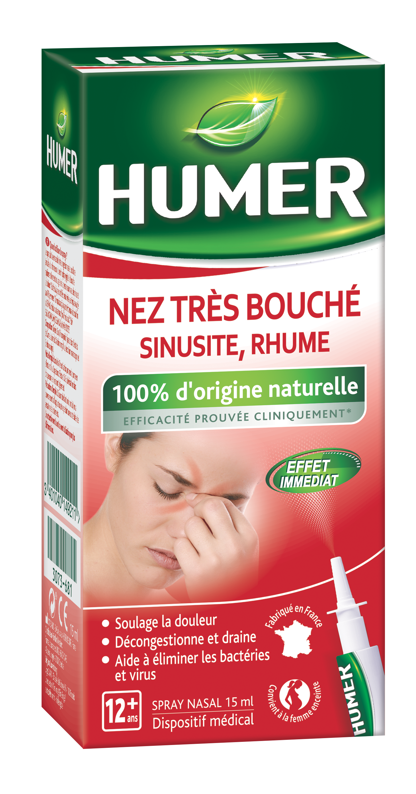 Image HUMER NEZ TRES BOUCHE S nas hypertonique extrait plantes Spray/15ml