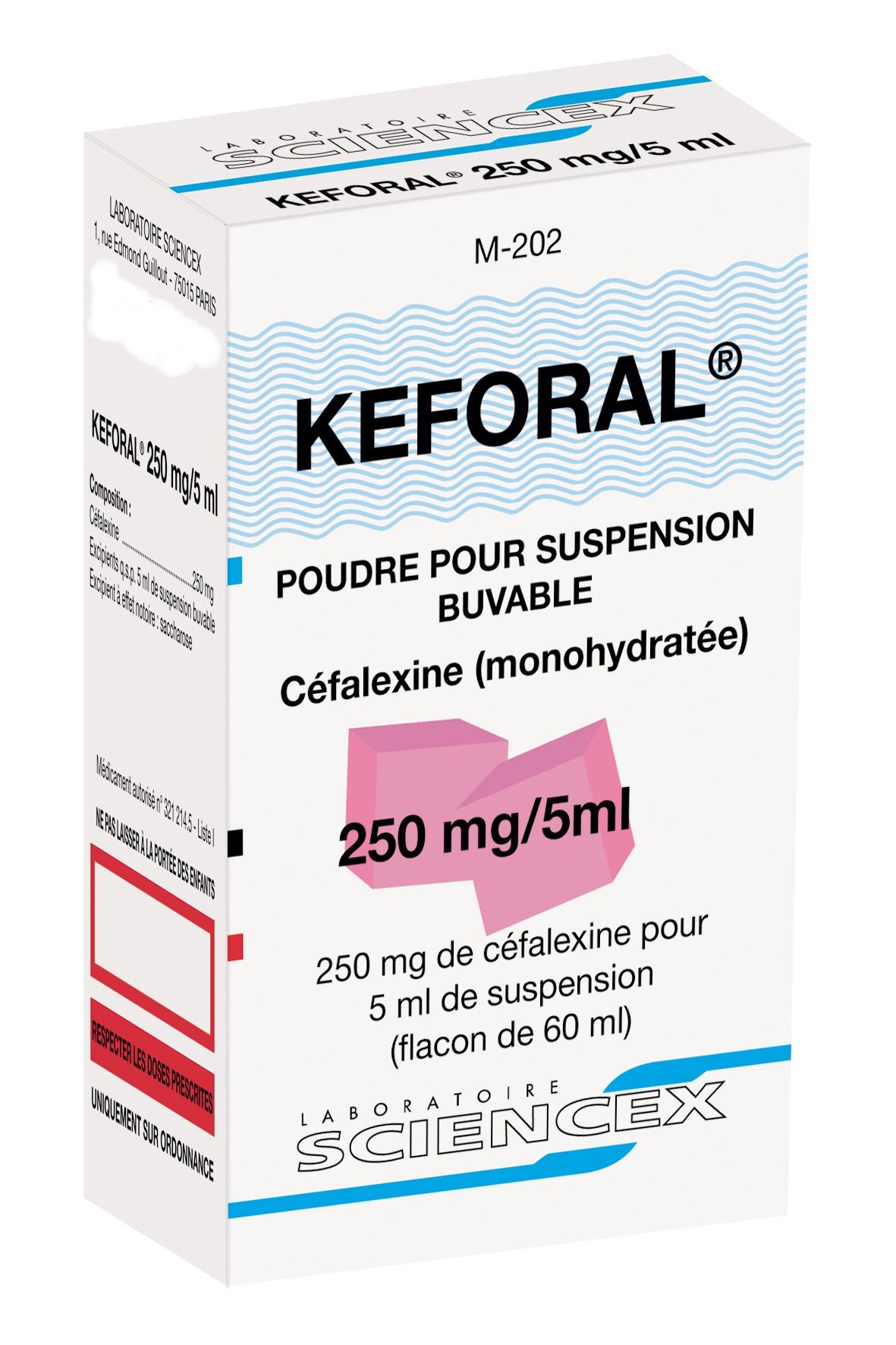 Image KEFORAL 250 mg/5 ml Pdr susp buv Fl/60ml
