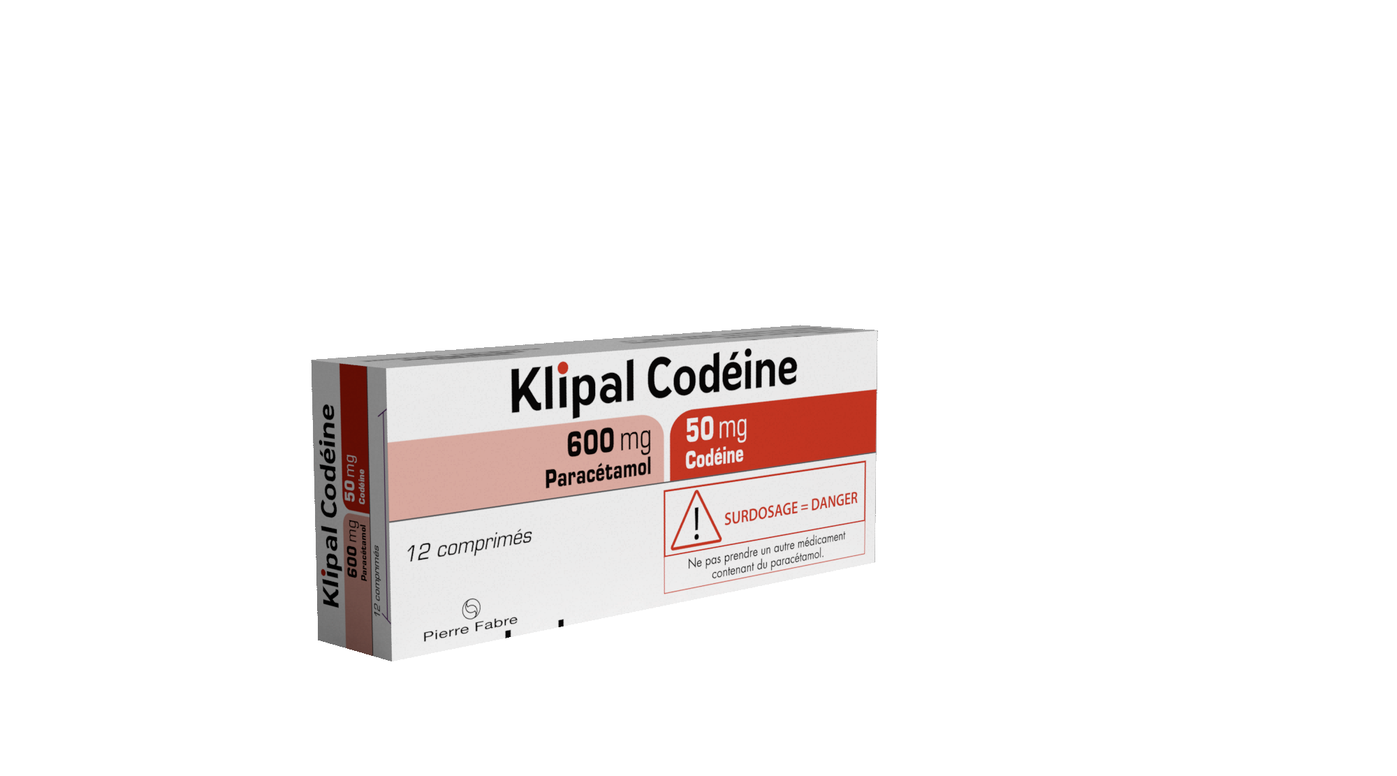 Image KLIPAL CODEINE 600 mg/50 mg Cpr Plq/12