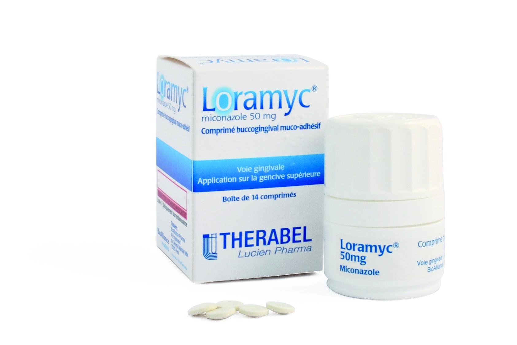Image LORAMYC 50 mg cpr buccogingiv muco-adh Fl/14