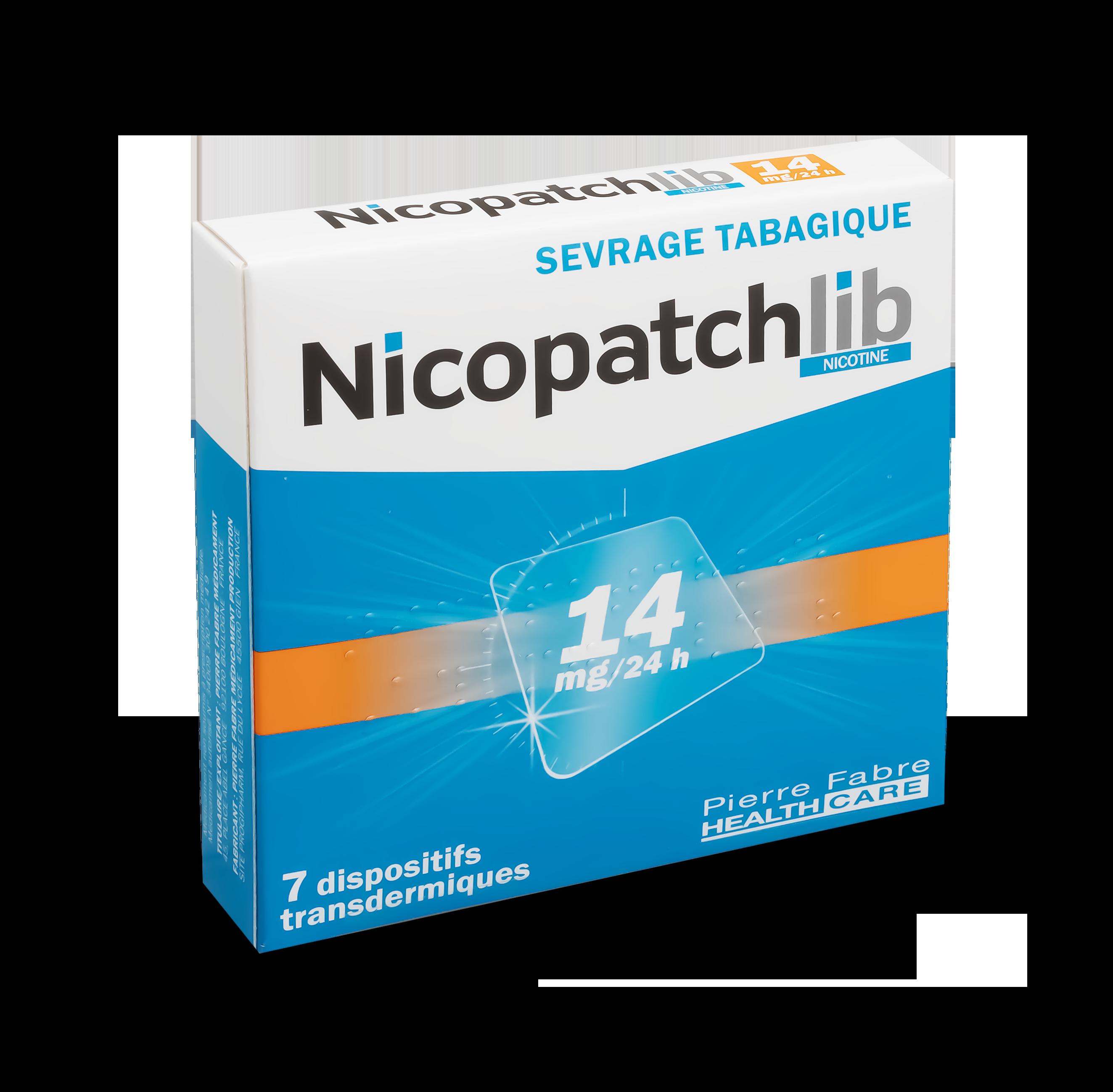 Image NICOPATCHLIB 14 mg/24 h Disp transderm 7Sach