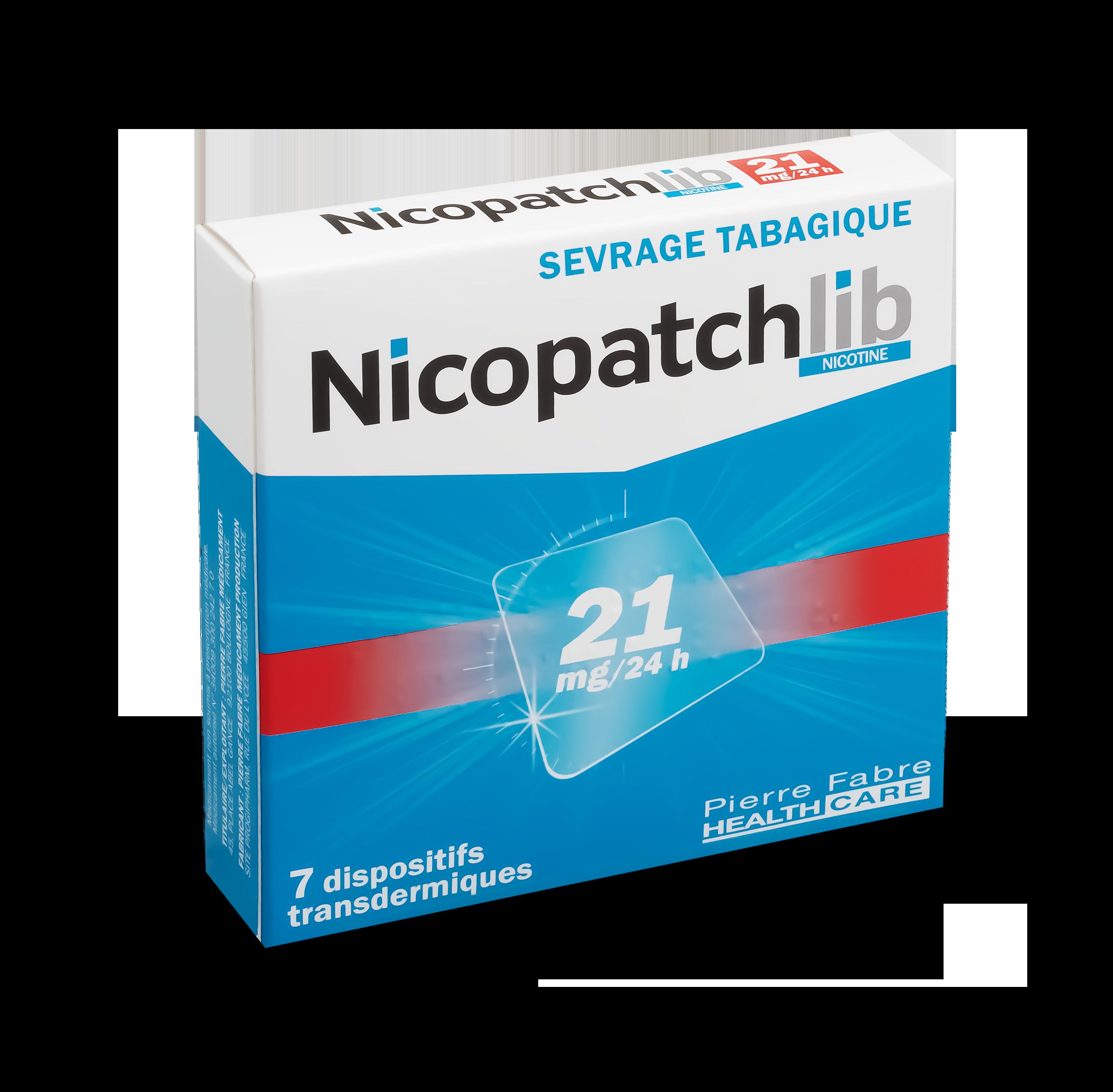 Image NICOPATCHLIB 21 mg/24 h Disp transderm 7Sach