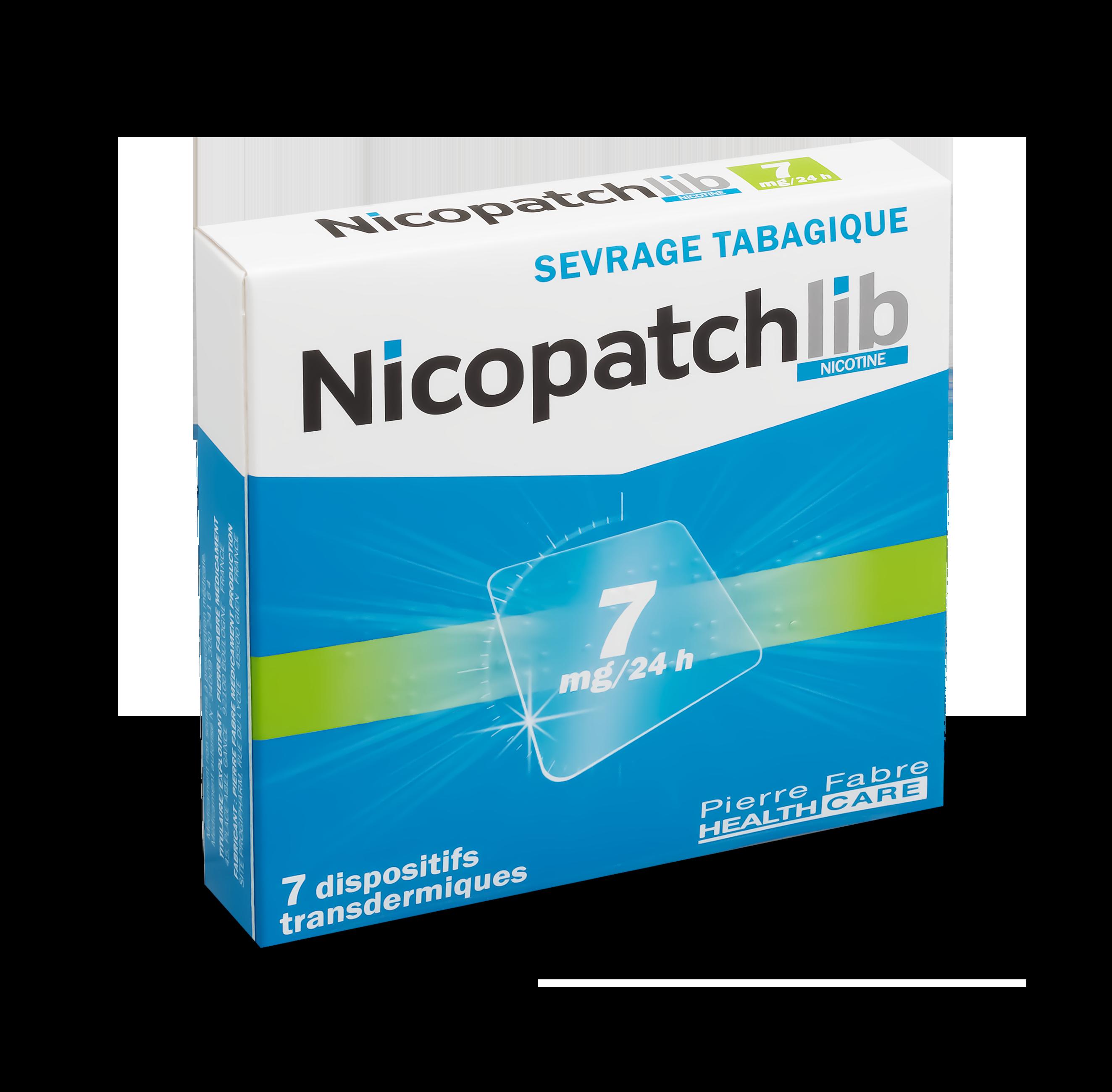 Image NICOPATCHLIB 7 mg/24 h Disp transderm 7Sach