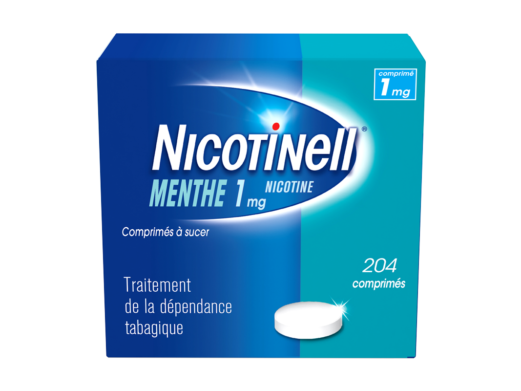 Image NICOTINELL 1 mg Cpr à sucer menthe Plq/204
