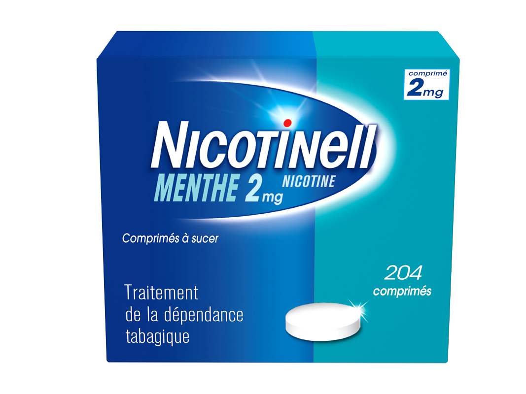 Image NICOTINELL 2 mg Cpr à sucer menthe Plq/204