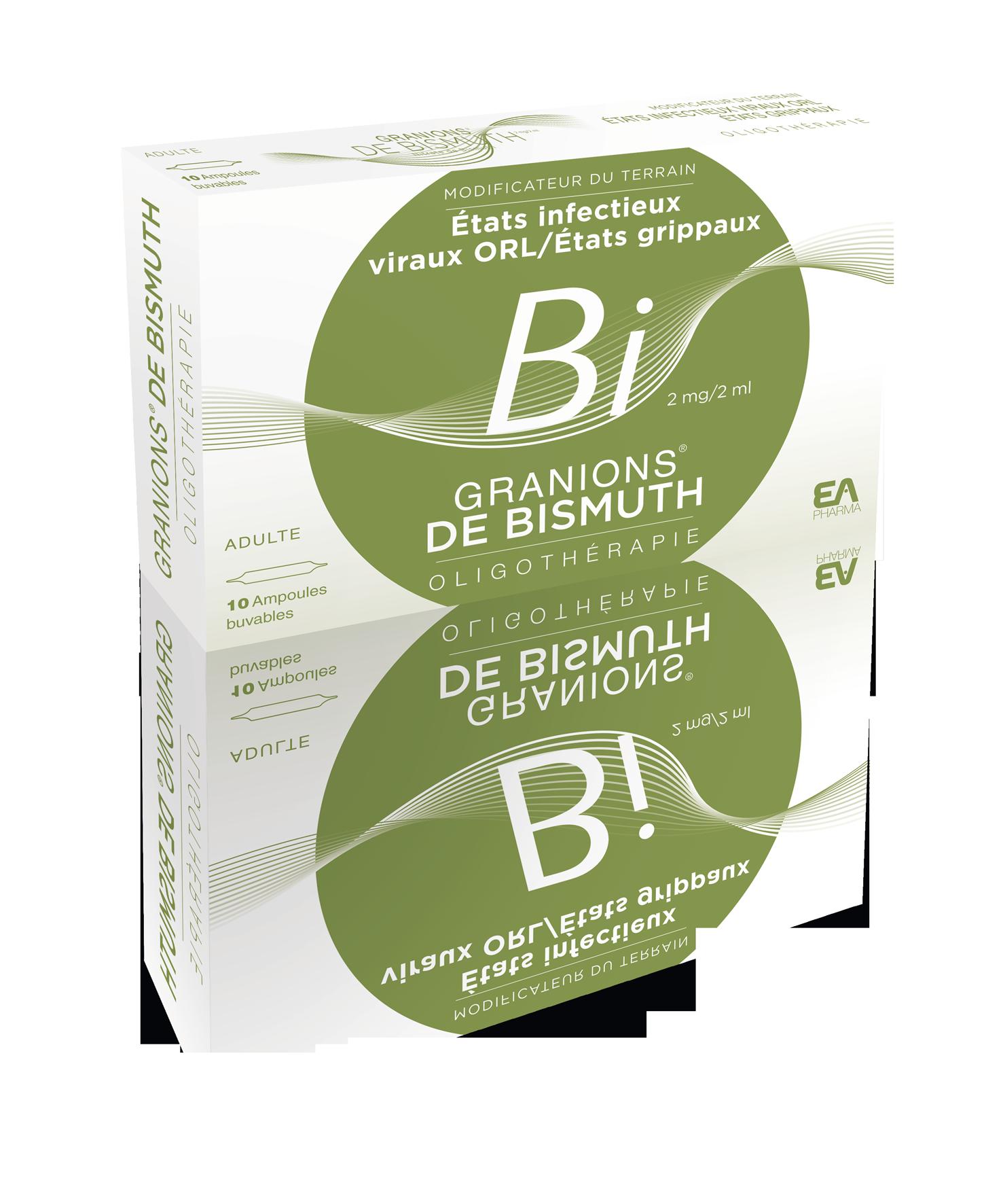 Image GRANIONS DE BISMUTH 2 mg/2 ml S buv 10Amp/2ml